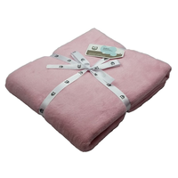 Ledikantdeken Katoen roze Briljant