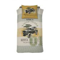 Damai kinderdekbedovertrek Kenia khaki 140x200 cm