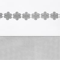 ledikantlaken 120x150cm Flower Strip grey Jollein