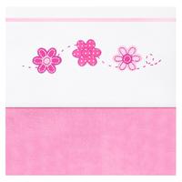 Ledikantlaken 120x150 cm Multi Flower pink Jollein