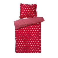 Damai kinderdekbedovertrek Dotty Spotty red 120x150 cm