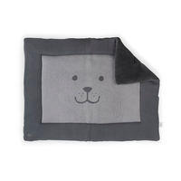 Boxkleed 80x100cm Natural knit bear anthracite