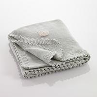 Pebble organic deken - Grijs met stip
