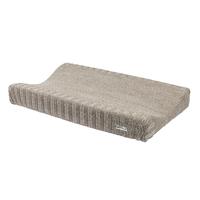 Gebreide aankleedkussenhoes Relief Mixed zand Meyco Silver