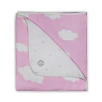 Hydrofiele ledikantdeken Clouds Pink Jollein