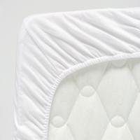 Molton stretch hoeslaken wit 75x150cm