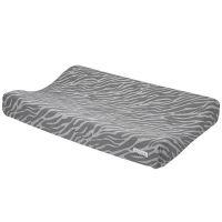 Meyco Aankleedkussenhoes Zebra grijs