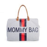 Mommy Bag Grey Stripes Redblue Childhome