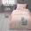Damai Kinderdekbedovertrek Le Lapin peach 140x200/220 cm