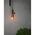 Landelijke koperen hanglamp