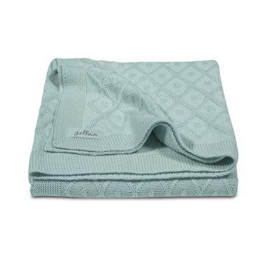 Jollein wiegdeken Diamond Knit vintage green 75x100cm