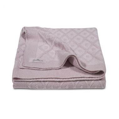 Jollein wiegdeken Diamond Knit vintage pink 75x100cm