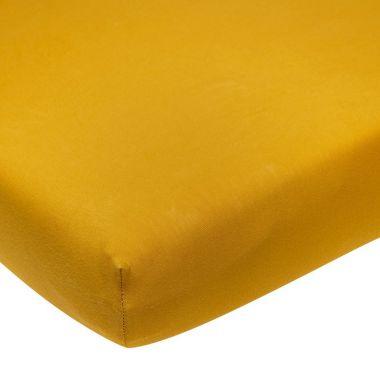 Meyco hoeslaken Jersey 70x140/150cm Okergeel