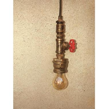 Nostalgische koperen hanglamp
