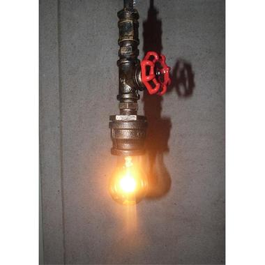 Industriële Koperen Hanglamp Kraan